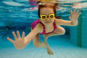 sports swimming girl underwater goggles